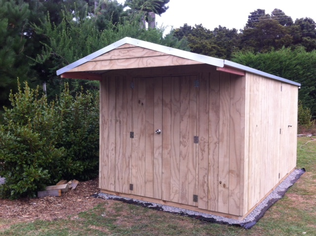 Plywood Cladding - gable extention
